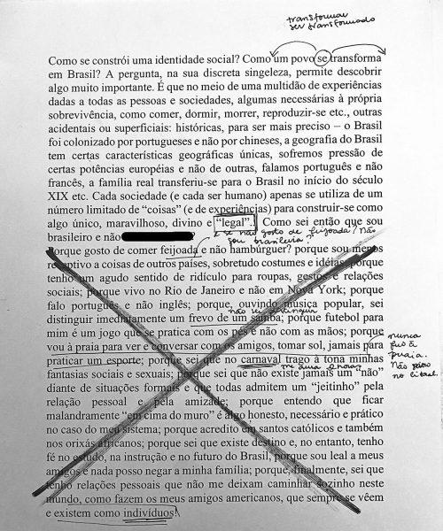 """Ativação """"O que faz o brasil, Brasil?"""" por Fiamma Viola, Bologna, Janeiro 2021. Texto Melina"""